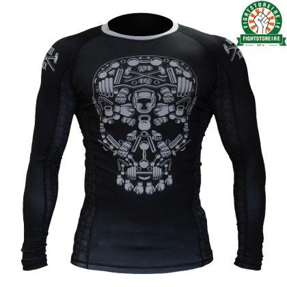 Hardcore Training Skull Rashguard - Black