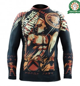 Hardcore Training Spartan Rashguard - Black