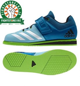Adidas Powerlift 3 Weightlifting Shoes - Blue/Green