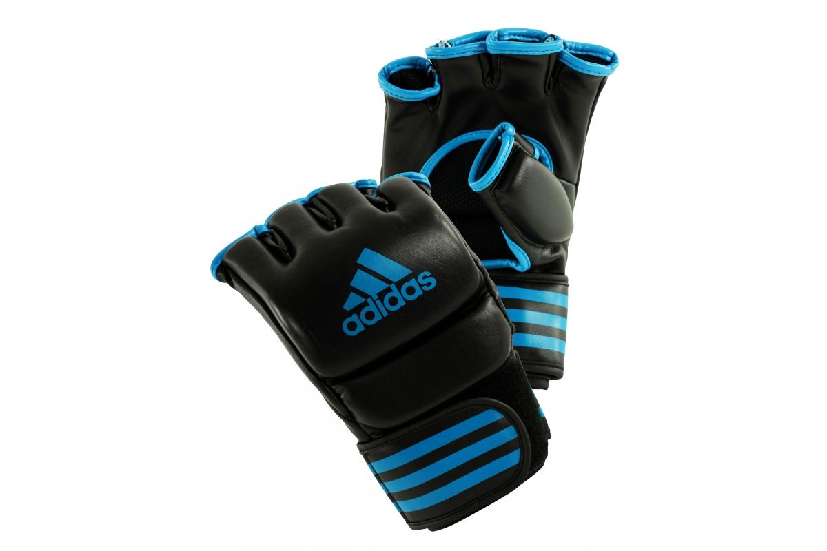 Adidas Pro Training Mma Gloves Black Blue Fight Store