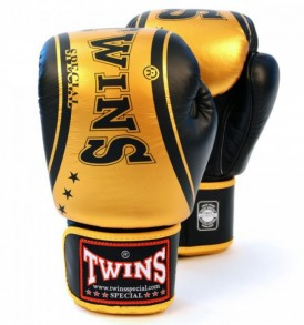 Twins Special Fantasy Boxing Gloves - Black/Gold