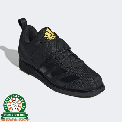 Adidas Powerlift 4 Weightlifting Shoes - Black/Gold