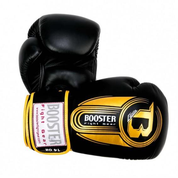 Black and Gold Booster V5 Thai Boxing Gloves