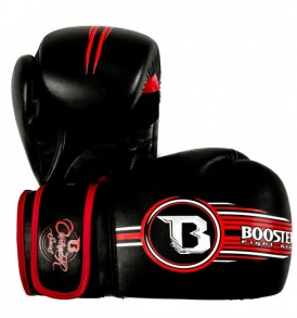 Booster Contender Boxing Gloves - Black/Red