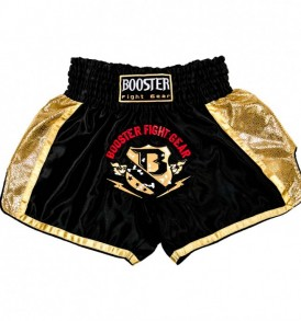 Booster PRO Muay Thai Shorts - Black/Gold