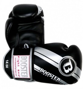 Booster V3 Thai Boxing Gloves - Black/Silver