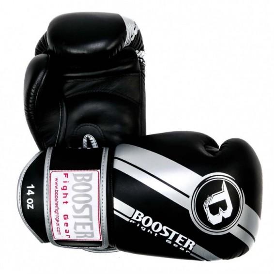 Booster V3 Thai Boxing Gloves - Black/Silver