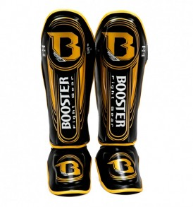 Booster V5 Shinguards - Black/Gold