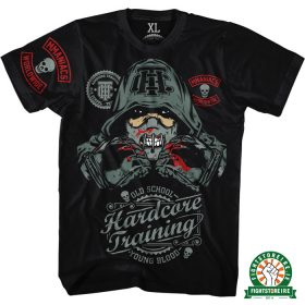 Hardcore-Training-MMAniacs-Tee---Black