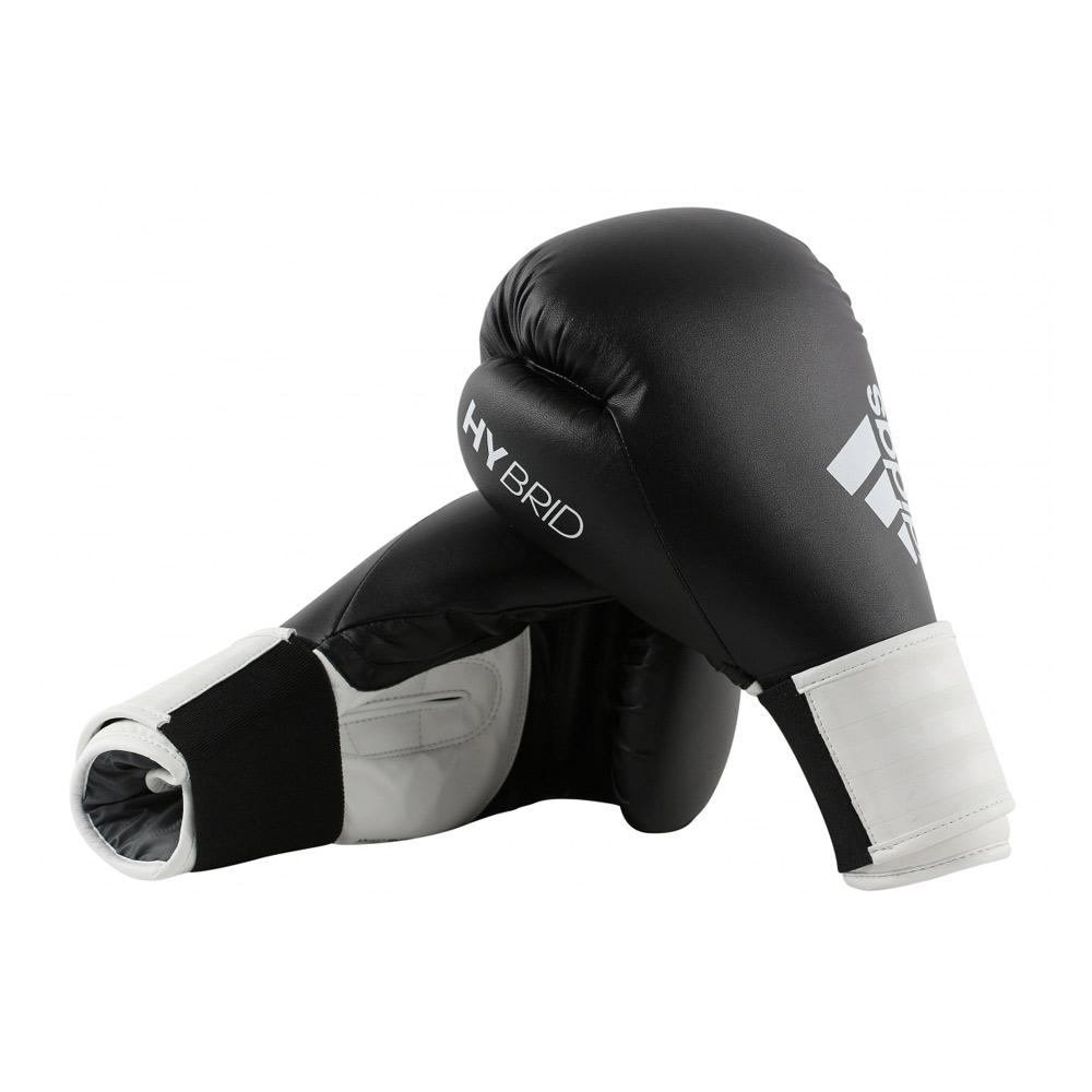 3fffbfe13 Adidas Hybrid 100 Boxing Gloves - Black White