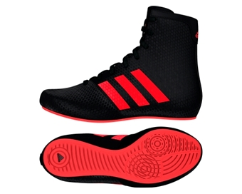 6f2aa650e375 Adidas KO Legend 16.2 Kids Boxing Boots - Black Red