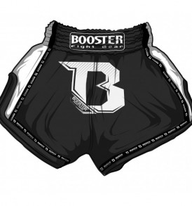 Booster PRO Muay Thai Shorts - Black/Silver