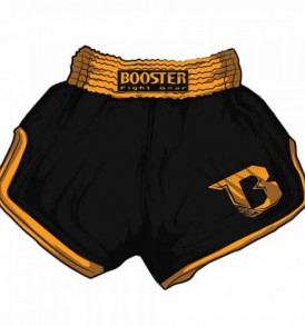 Booster Retro Muay Thai Shorts - Black/Orange