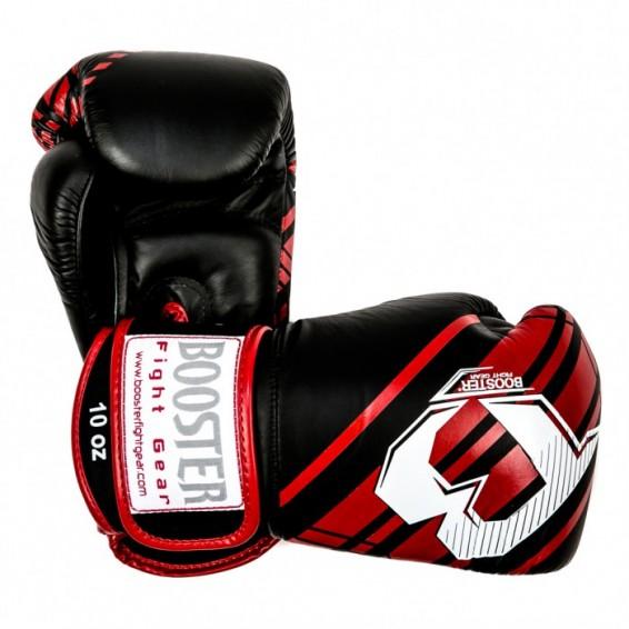 Booster V4 Thai Boxing Gloves - Black/Red