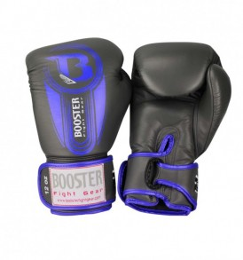 Booster V5 Thai Boxing Gloves - Grey/Blue