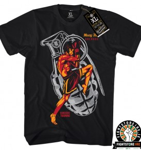 Hardcore Training Muay Thai Grenade Tee - Black