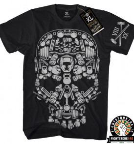 Hardcore Training Skull Tee - Black