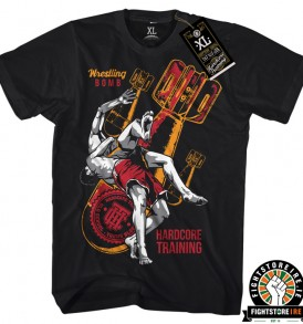 Hardcore Training Wrestling Bomb Tee - Black
