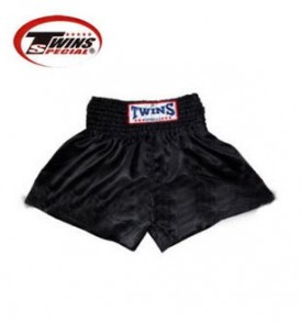 Twins Muay Thai Shorts - Solid Black