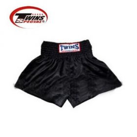 Twins Muay Thai Shorts - Solid Black