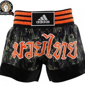 Adidas Large Print Thai Boxing Shorts - Camo