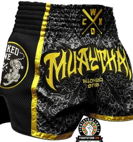 Wicked One Muay Thai Shorts - Black/Yellow