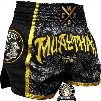 Wicked One Muay Thai Shorts - Black/Yellow