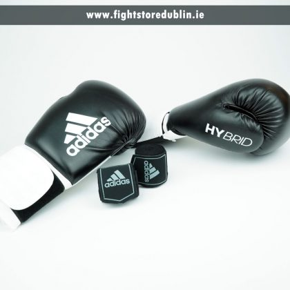 Adidas Hybrid 100 Boxing Gloves with Free Handwraps