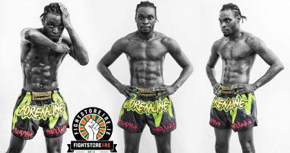 Fightlab Adrenaline Thai Boxing Shorts - Black/Green
