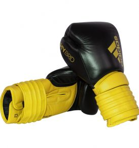 Adidas Hybrid 300 Boxing Gloves - Black/Yellow
