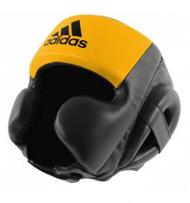 Adidas Hybrid Sparring Headguard - Black/Yellow