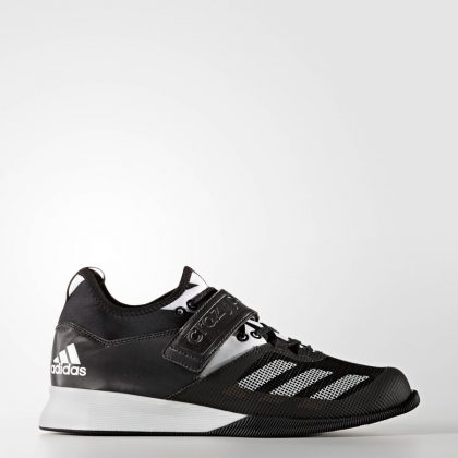 Adidas Crazy Power Weightlifting Shoes - Black/White | Fight Store IRELAND