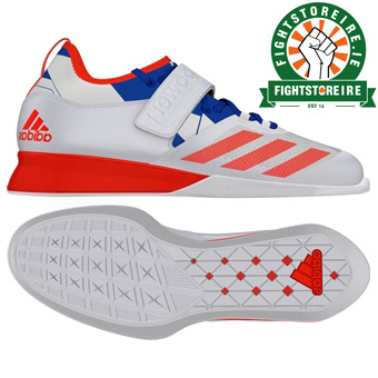 Adidas Crazy Power Weightlifting Shoes - White/Red/Blue