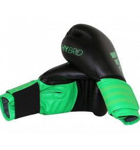 Adidas Hybrid 100 Boxing Gloves - Black/Green