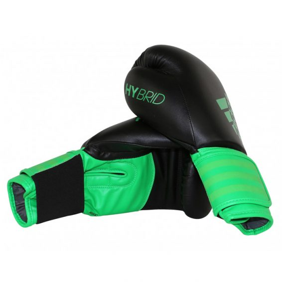 Adidas Hybrid 100 Boxing Gloves - Black/Green