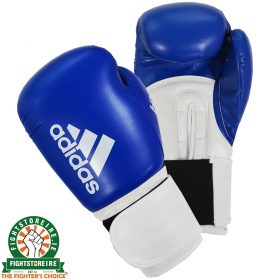 Adidas Hybrid 100 Boxing Gloves - Blue/White