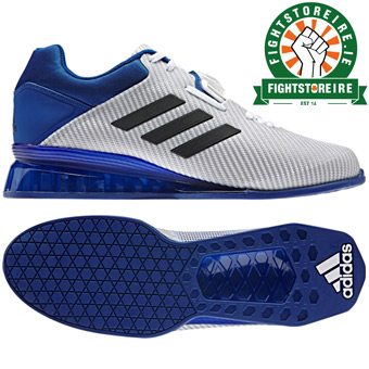 Adidas Leistung 16 II Weightlifting Shoes - White/Blue/Black