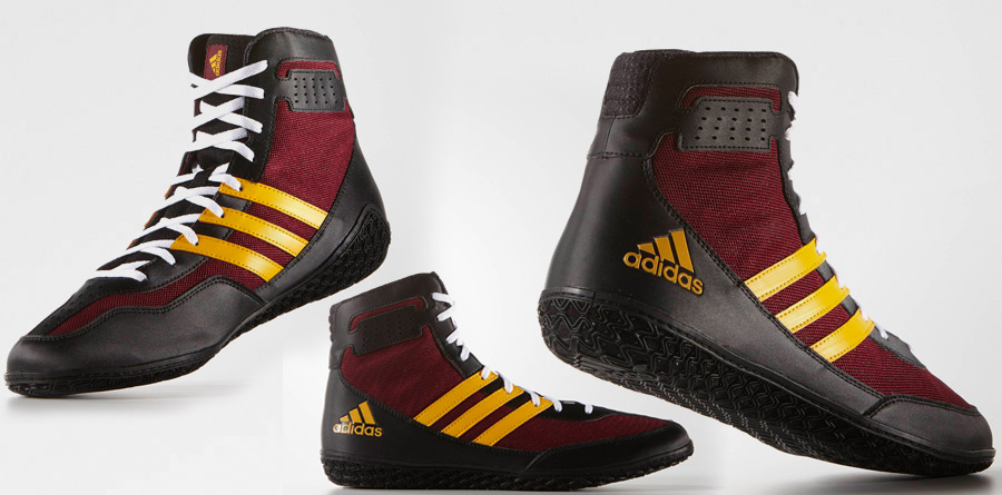 19964b9d218 Adidas Mat Wizard 3 Wrestling Shoes - Red Yellow - Fight Store IRELAND