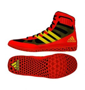 Adidas Mat Wizard 3 Wrestling Shoes - Red/Yellow
