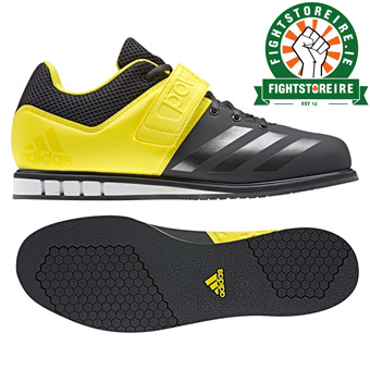620232866d5 Adidas Powerlift 3 Weightlifting Shoes - Black Yellow - Fight Store ...