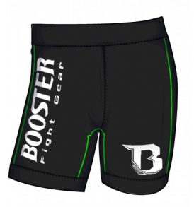 Booster Neon Vale Tudo Shorts - Black/Green