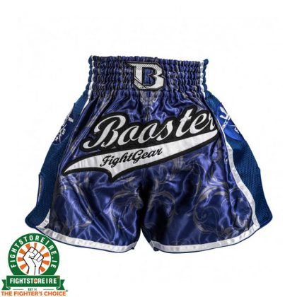 Booster PRO Muay Thai Shorts - Blue/White