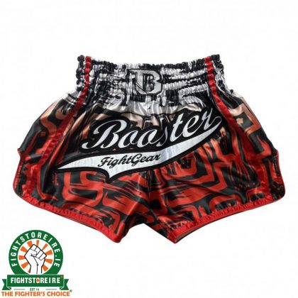Booster PRO Muay Thai Shorts - Labyrinth Red