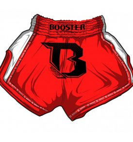 Booster PRO Muay Thai Shorts - Red/White