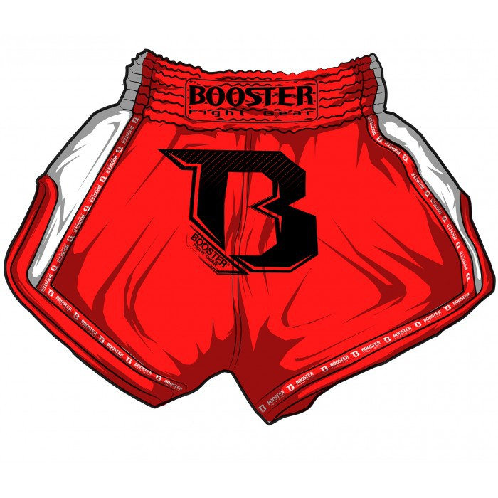Booster Pro Muay Thai Shorts Red White Fight Store Ireland
