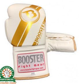 Booster PRO Range Leather Lace Up Gloves - White/Gold