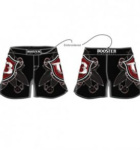 Booster Warrior Shield MMA Shorts - Black/Red