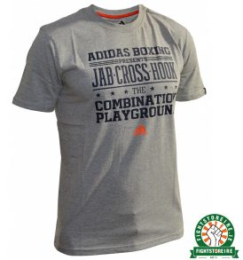 Adidas Boxing Slogan T-Shirt - Grey