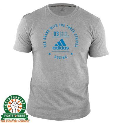 Adidas Boxing T-Shirt Grey/Blue