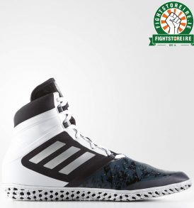 Adidas Flying Impact Wrestling Shoes - Black/Silver/White